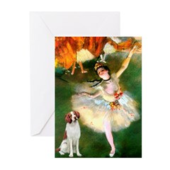 Dancer/Brittany Spaniel Greeting Cards (Pk of 20)