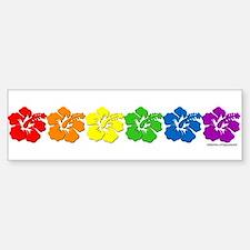 Hawaii Pride Rainbow Bumper Bumper Bumper Sticker