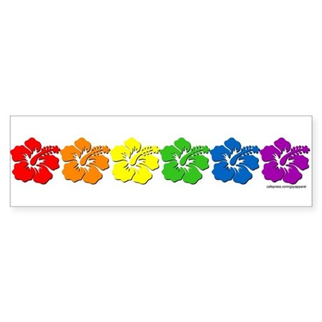 Hawaii Pride Rainbow Bumper Sticker