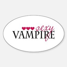 Sexy Vampire Oval Decal