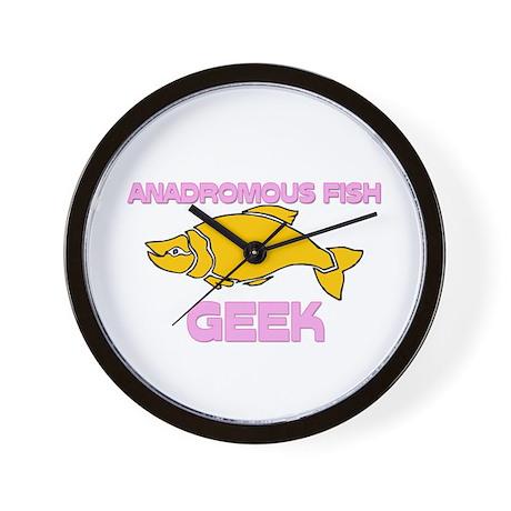 Anadromous Fish Geek Wall Clock