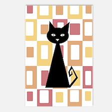 Eight Black Cat Postcards