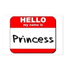 Hello my name is Princess Postcards (Package of 8)