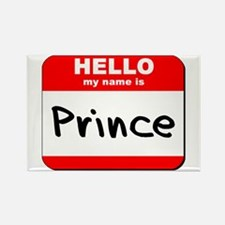 Hello my name is Prince Rectangle Magnet
