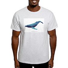 Humpback Whale Ash Grey T-Shirt