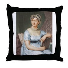 Austen in Colour Throw Pillow