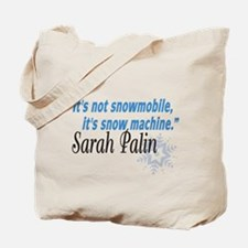 Snowmobile Palin Tote Bag