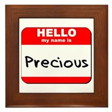 Hello my name is Precious Framed Tile