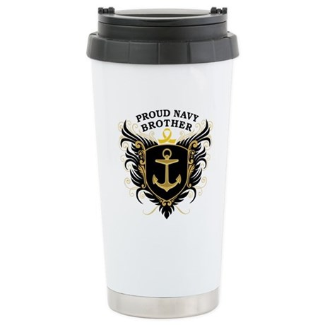 Proud Navy Brother Stainless Steel Travel Mug