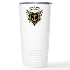 Proud Navy Daughter Travel Mug
