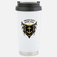 Proud Navy Step Dad Travel Mug