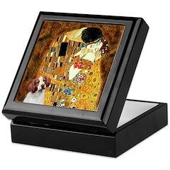 Kiss/Brittany Spaniel Keepsake Box