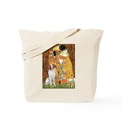 Kiss/Brittany Spaniel Tote Bag