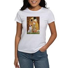 Kiss/Brittany Spaniel Women's T-Shirt