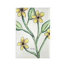 Black-Eyed Susan Rectangle Magnet (100 pack)