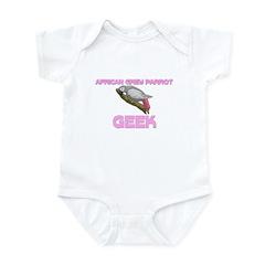 African Grey Parrot Geek Infant Bodysuit