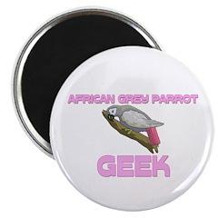 African Grey Parrot Geek Magnet