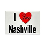 I Love Nashville Rectangle Magnet (10 pack)