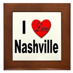 I Love Nashville Framed Tile