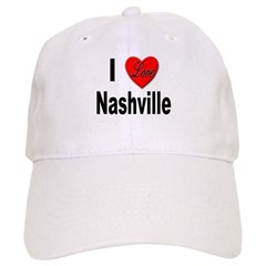 I Love Nashville Baseball Cap