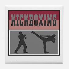Kick Boxing Tile Coaster