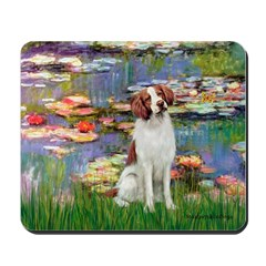 Lilies 2/Brittany Spaniel Mousepad