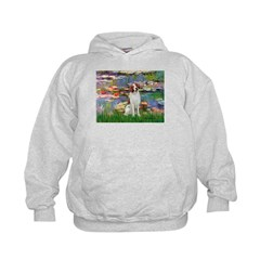 Lilies 2/Brittany Spaniel Hoodie