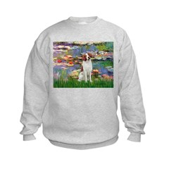 Lilies 2/Brittany Spaniel Sweatshirt