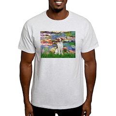 Lilies 2/Brittany Spaniel T-Shirt