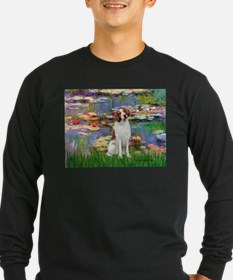 Lilies 2/Brittany Spaniel T
