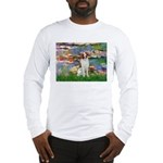 Lilies 2/Brittany Spaniel Long Sleeve T-Shirt