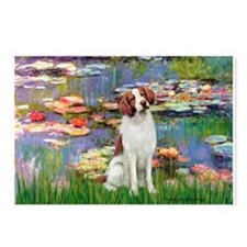 Lilies 2/Brittany Spaniel Postcards (Package of 8)