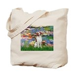 Lilies 2/Brittany Spaniel Tote Bag
