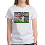 Lilies 2/Brittany Spaniel Women's T-Shirt