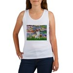 Lilies 2/Brittany Spaniel Women's Tank Top