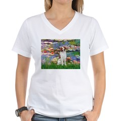 Lilies 2/Brittany Spaniel Shirt