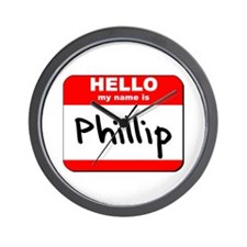 Hello my name is Phillip Wall Clock
