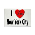 I Love New York City Rectangle Magnet (10 pack)