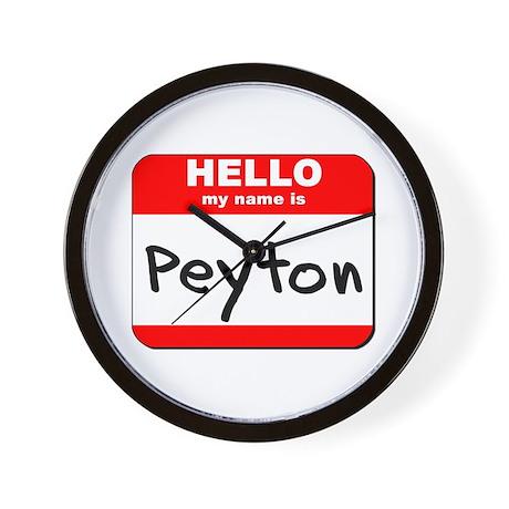Hello my name is Peyton Wall Clock