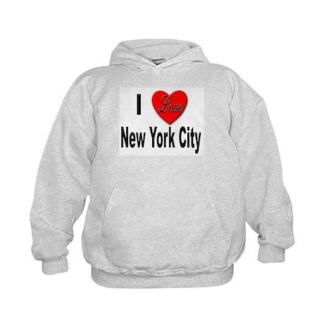 I Love New York City (Front) Kids Hoodie