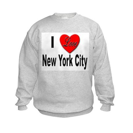 I Love New York City (Front) Kids Sweatshirt