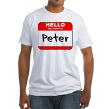 Hello my name is Peter Shirt