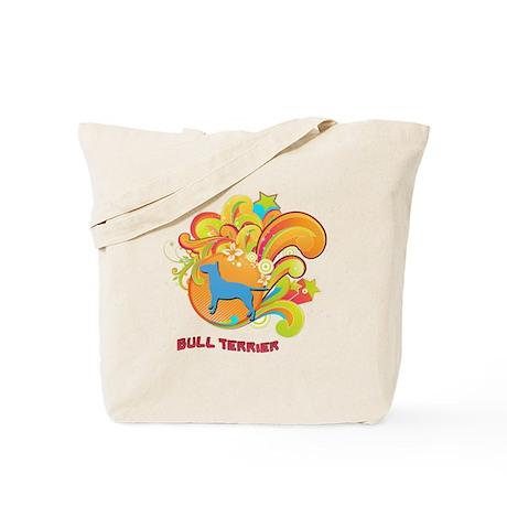 Groovy Bull Terrier Tote Bag