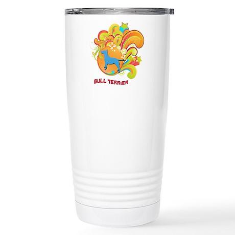 Groovy Bull Terrier Stainless Steel Travel Mug