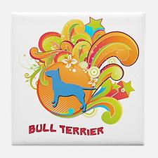 Groovy Bull Terrier Tile Coaster