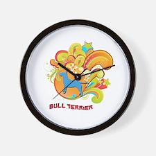 Groovy Bull Terrier Wall Clock