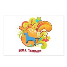 Groovy Bull Terrier Postcards (Package of 8)