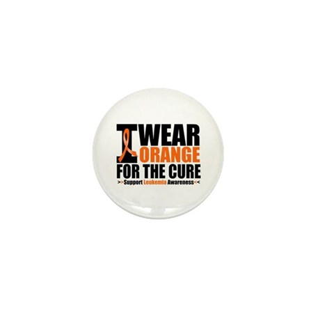 I Wear Orange For The Cure Mini Button