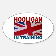 Hooligan in Training Oval Decal