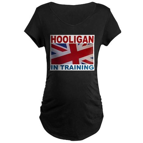 Hooligan in Training Maternity Dark T-Shirt